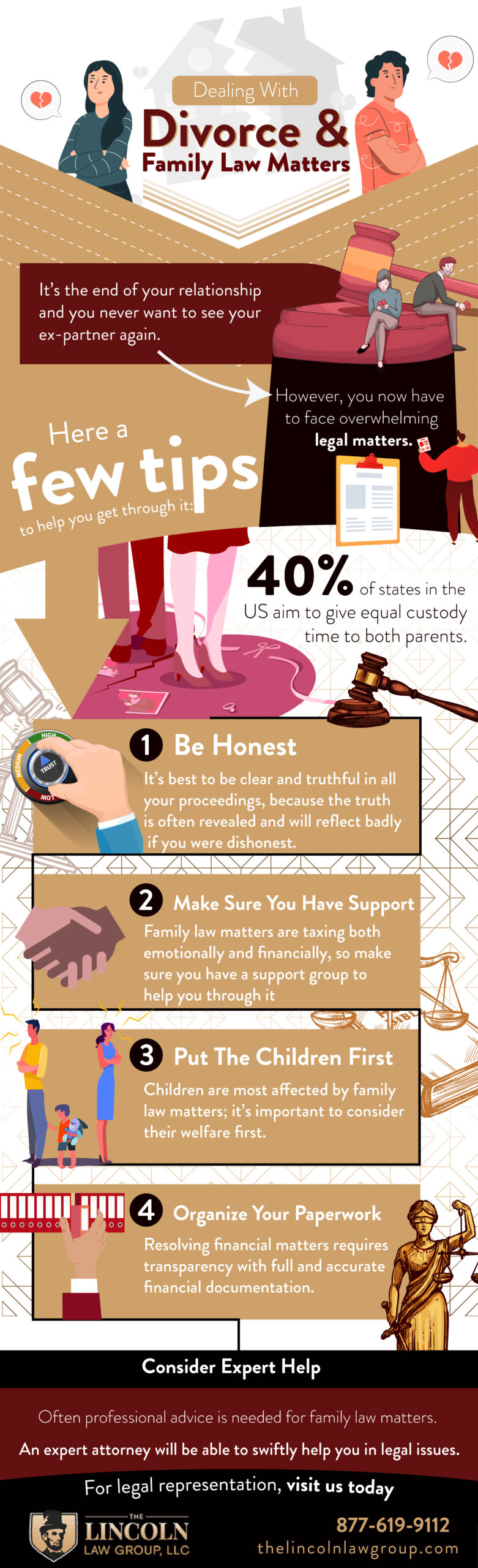 few tips on dealing with family law matters